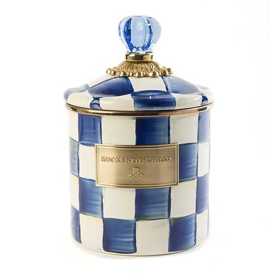 Royal Check Enamel Canister - Small