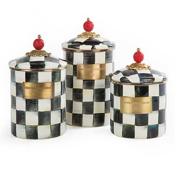 Courtly Check Enamel Canister - Small image three