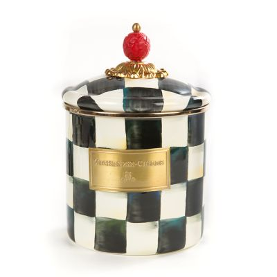 Image for Courtly Check Enamel Canister - Small