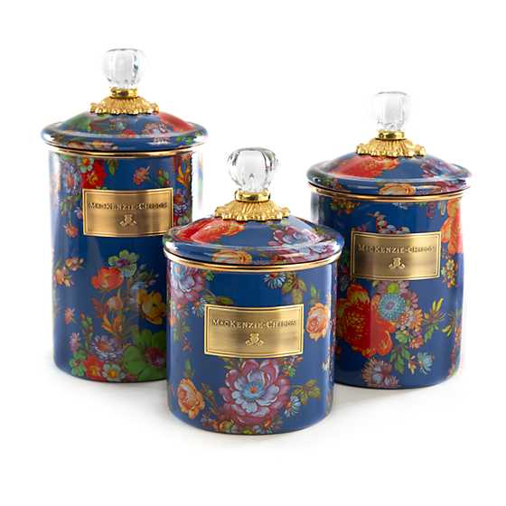 Flower Market Small Canister - Lapis image three