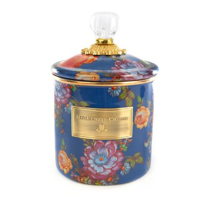 Flower Market Small Canister - Lapis