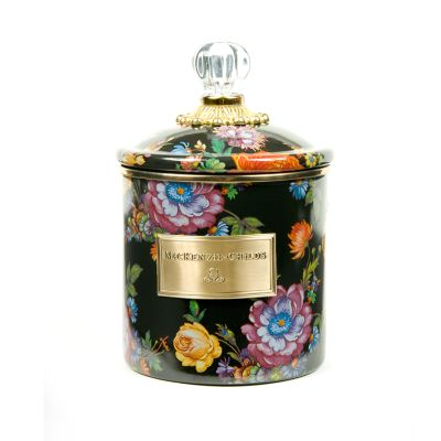 Flower Market Small Canister - Black