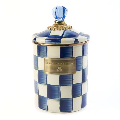 Royal Check Enamel Canister - Medium