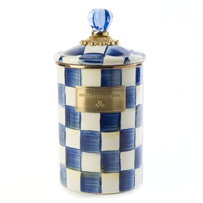 Image for Royal Check Enamel Canister - Large