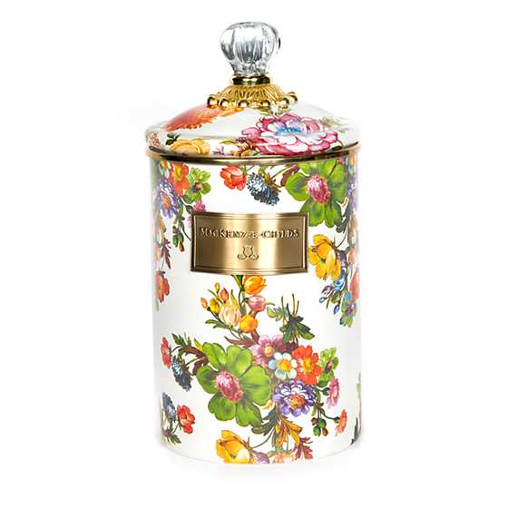 Flower Market Large Canister - White