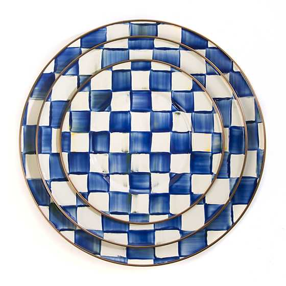 Royal Check Dinner Plate image four