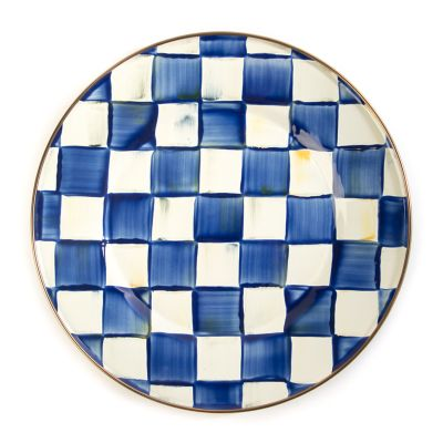 Royal Check Enamel Dinner Plate