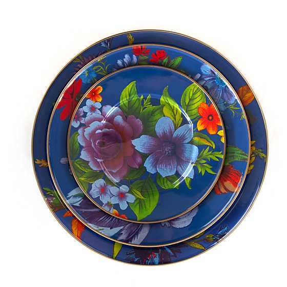 Flower Market Dinner Plate - Lapis image three
