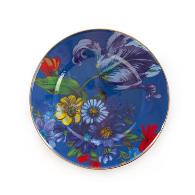 Flower Market Dinner Plate - Lapis