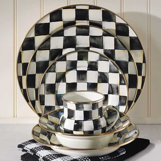 ... Courtly Check Enamel Dinner Plate ... & MacKenzie-Childs | Courtly Check Enamel Dinner Plate