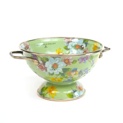 Flower Market Small Colander - Green