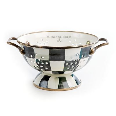 Image for Courtly Check Enamel Colander - Small