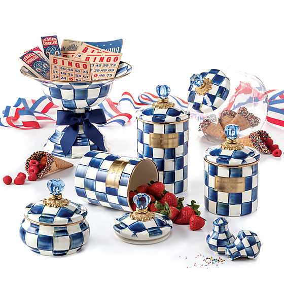 Royal Check Salt & Pepper Shakers image three