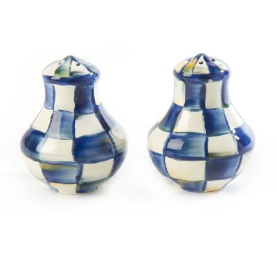 Royal Check Enamel Salt & Pepper Shakers