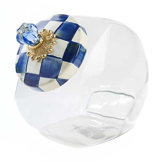 Cookie Jar with Royal Check Enamel Lid