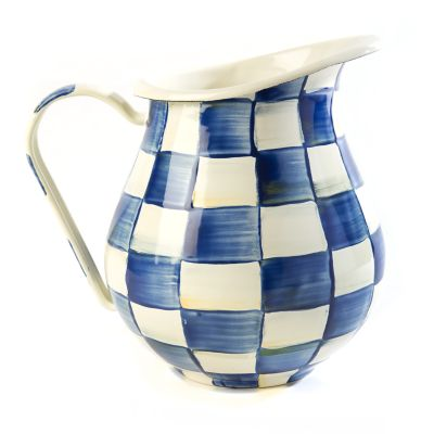 Royal Check Enamel Pitcher