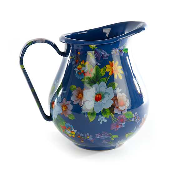 Flower Market Pitcher - Lapis image two