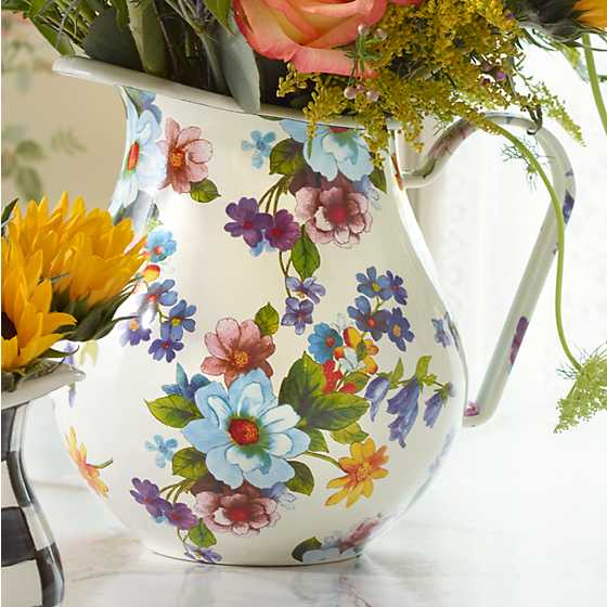 Flower Market Pitcher - White image two