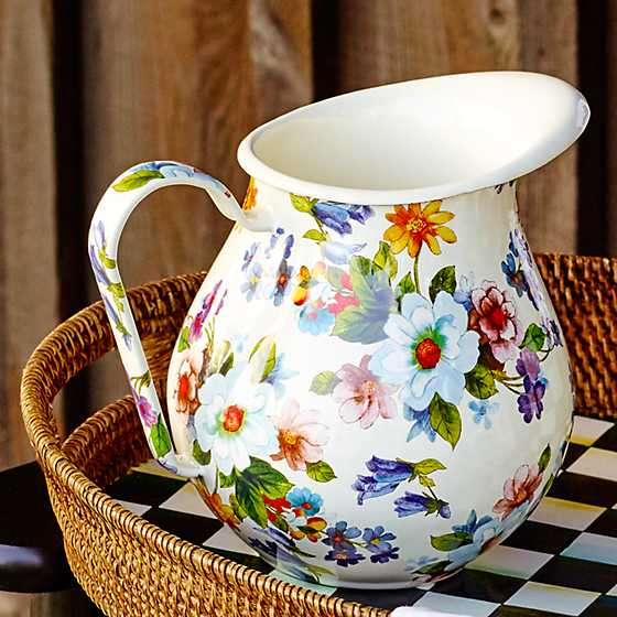 Flower Market Pitcher - White image four