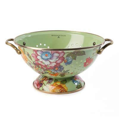 Flower Market Large Colander - Green