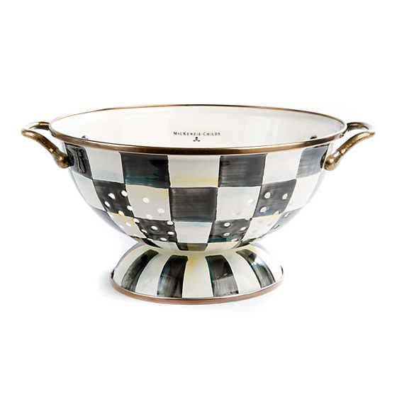 Courtly Check Enamel Colander - Large image one