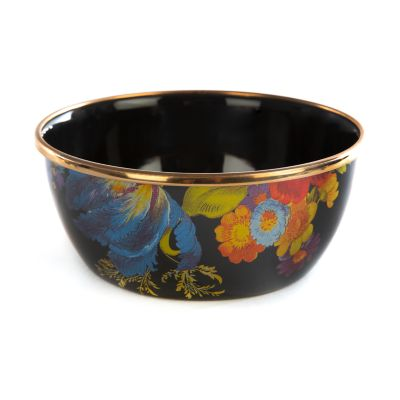 Flower Market Pinch Bowl - Black