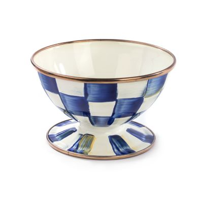 Royal Check Enamel Ice Cream Dish