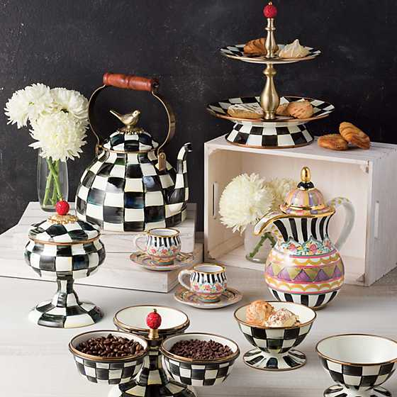 Courtly Check Enamel Ice Cream Dish