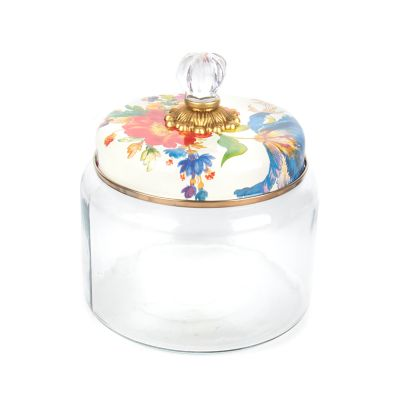 Flower Market Kitchen Canister - White - Medium