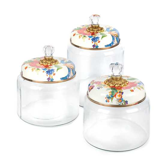 Flower Market Kitchen Canister - White - Large image three