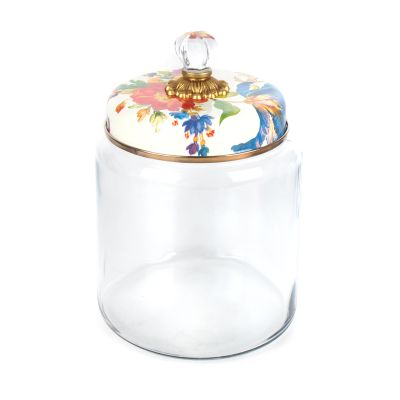 Flower Market Kitchen Canister - White - Large