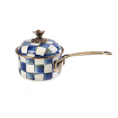 Image for Royal Check Enamel 1 Qt. Saucepan