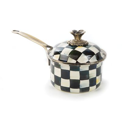 Image for Courtly Check Enamel 1 Qt. Saucepan