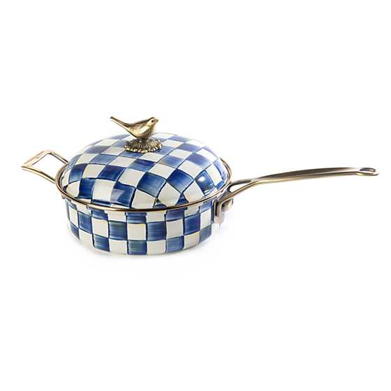 Royal Check Enamel 3 Qt. Saute Pan
