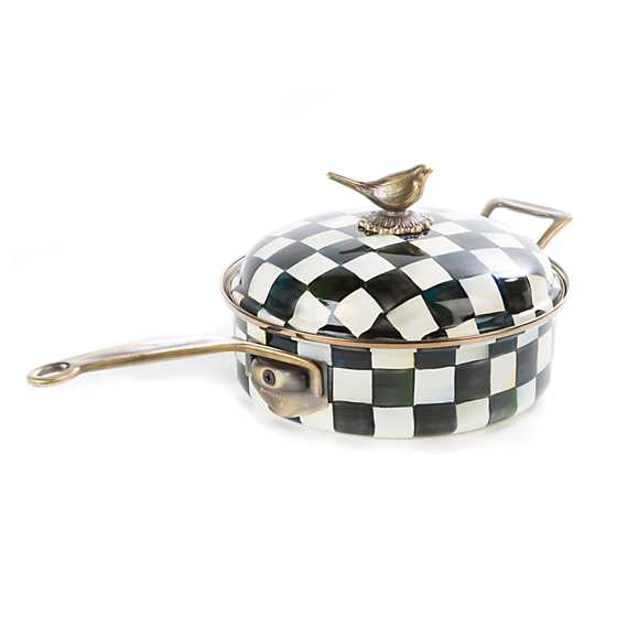 Courtly Check Enamel 3 Qt. Saute Pan image one