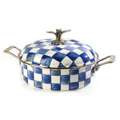 Image for Royal Check Enamel 5 Qt. Casserole