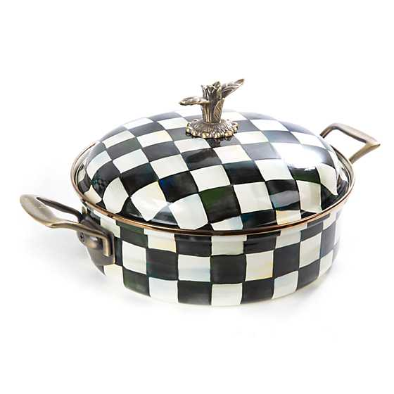 Courtly Check Enamel 5 Qt. Casserole