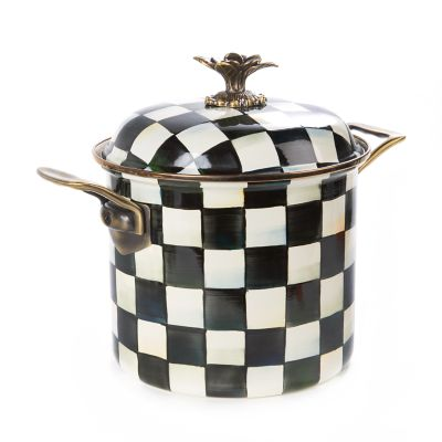 Image for Courtly Check Enamel 7 Qt. Stockpot