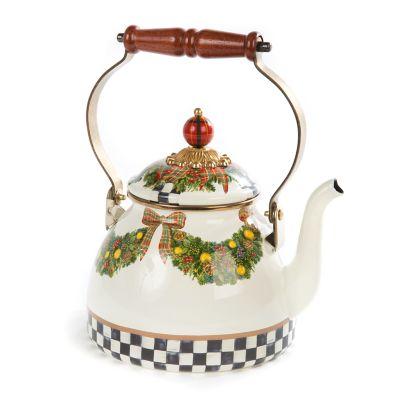bf420174c448 Evergreen Enamel Tea Kettle - 2 Quart