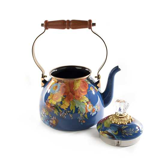 Flower Market 2 Quart Tea Kettle - Lapis image three