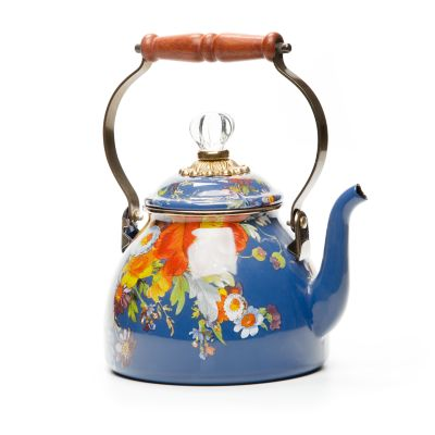 Flower Market 2 Quart Tea Kettle - Lapis