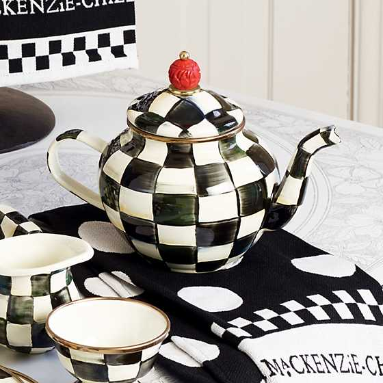 Courtly Check Enamel Teapot - 4 Cup