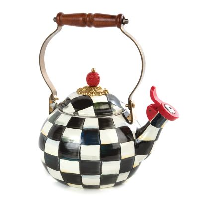 Image for Courtly Check Enamel Whistling Tea Kettle