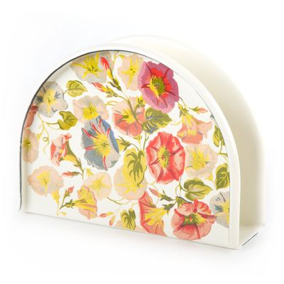 Morning Glory Enamel Napkin Holder