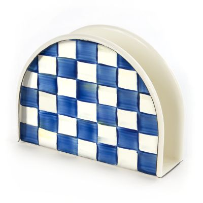 Royal Check Enamel Napkin Holder