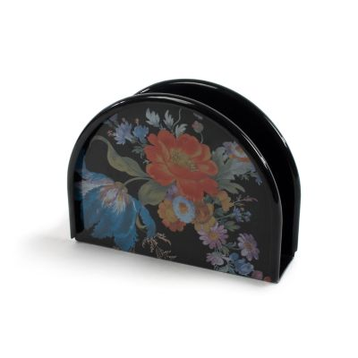 Flower Market Napkin Holder - Black