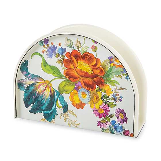 Flower Market Napkin Holder - White
