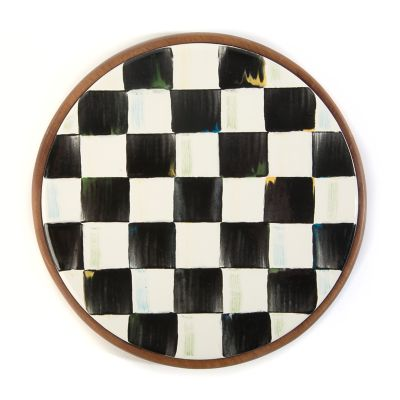Courty Check Enamel Trivet