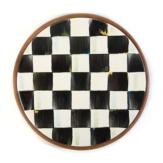 Courtly Check Enamel Trivet image one