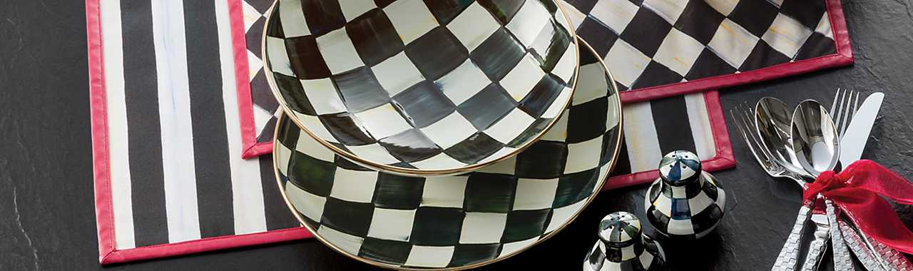 Courtly Check Enamel Gourmand Coupe Banner Image